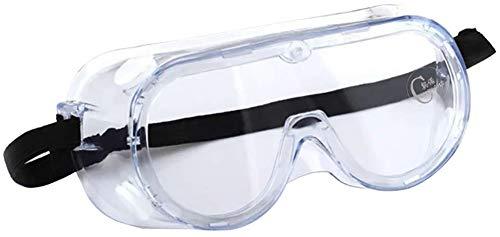 Chiconon Schutzbrille im Labor, hohe Schlagfestigkeit, kristallklar, strapazierfähig, industrielle Stärke, Schutzbrille für Chemikalien, Labor und Arbeitsplatz