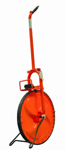 Keson MP415 Metal Frame Measuring Wheel with Two Scale Solid Plastic Wheel (Graduations: ft., in. & 10ths), 15-1/2-Inch Diameter