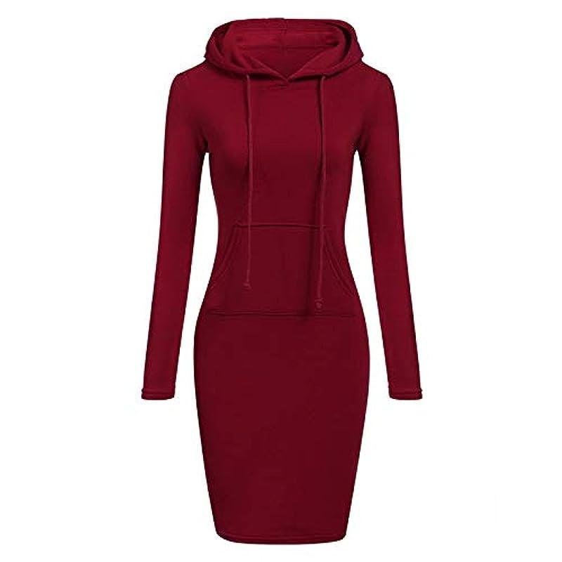ピボット研磨チャーターMaxcrestas - ファッションフード付き巾着フリースの女性のドレス秋冬はドレス女性Vestidosパーカースウェットシャツドレスを温めます
