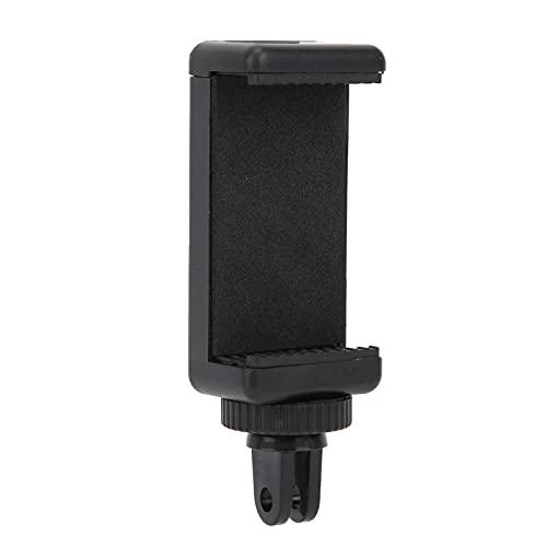Clip de Soporte para teléfono Inteligente, Clip Adaptador Universal Ajustable de 6 a 9 cm, Zapata fría y Soporte de Montaje de 1/4 de Pulgada, Soporte de luz de Relleno/micrófono/Mango/Palo de s