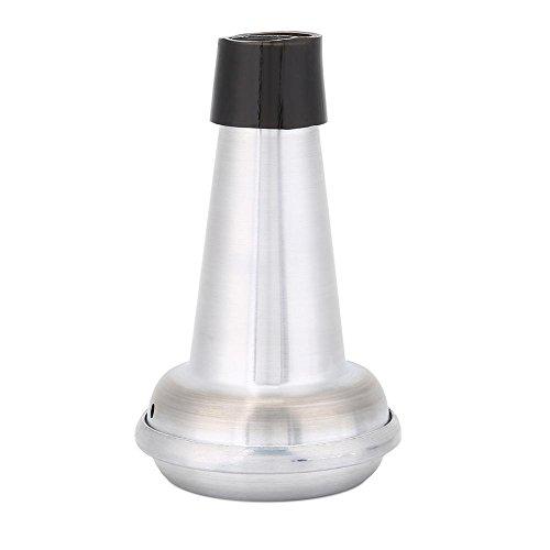 Dilwe Trompete Mute, Gummi Aluminiumlegierung Praxis Trompete Mute Straight Cornet Mute Schalldämpfer