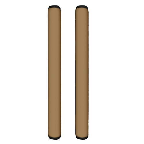 TOADDMOS 2 fundas para manija de puerta de Neonprene de color marrón sólido, mantiene tu aparato de cocina limpio, guantes ajustables para frigorífico, microondas y lavavajillas