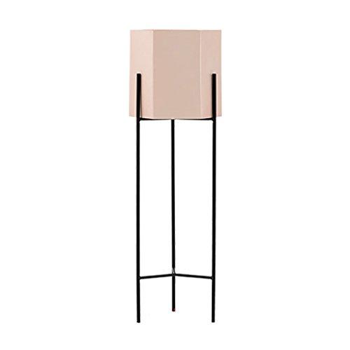 Étagère européenne de fleur de fer forgé salon multifonctionnel et cadre bonsaï d'intérieur support de plancher support de pot de balcon ( Color : Pink , Size : 21.5x80cm )