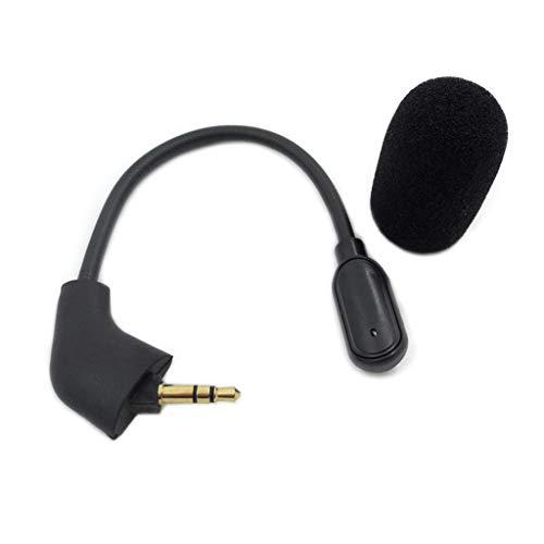 angwang Microfone de jogo de substituição de 3,5 mm para fones de ouvido Hyperx II Gaming Headsets dobrável 360 graus com capa de espuma, transmissão precisa de dados