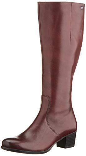 CAPRICE Damen BALINA Hohe Stiefel, Rot (Bordeaux Nappa 540), 39 EU