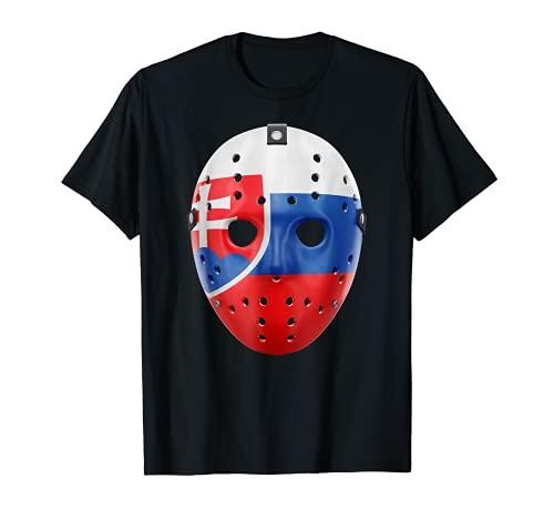 Vintage Torwart Maske Slowakei Hockey Retro Fan T-Shirt T-Shirt