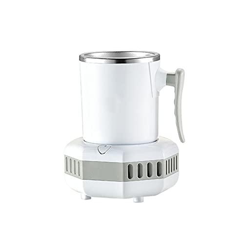 YFBY, Mini refrigerador, Taza refrigerada, Refrigerador portátil para Bebidas, Escritorio para Barco, Refrigerador de Viaje-White  Cold
