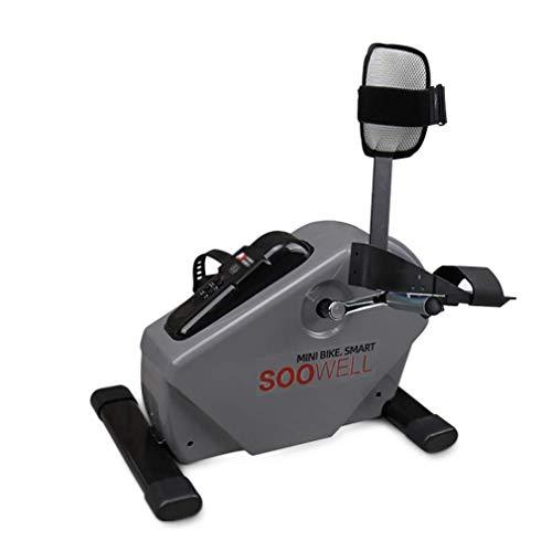 Ejercitador de pedal estacionario Ciclo de rehabilitación Bicicleta, pierna y brazo Entrenamiento cardiovascular Resistencia ajustable Activo / pasivo Asistente de pedal Ejercitador 125W Mod