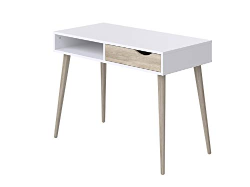 Movian Havel Scandinavian - Escritorio con 1 cajon, 50 x 100 x 75 cm (blanco)
