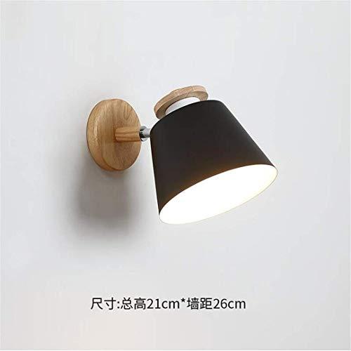 CC6 plafondlamp moderne Scandinavische minimalistische tv muur zwart muur lamp houten woonkamer lamp slaapkamer bed massief hout muur lamp Aisle lichten