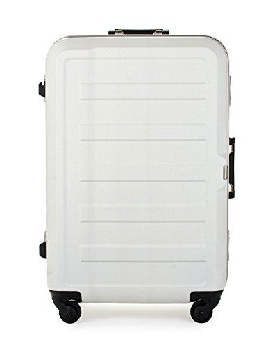 [レジェンドウォーカー] スーツケース フレーム ハードスーツケース 4輪 消音/静音キャスター 5088-60 保証付 61L 66 cm 4.4kg アイボリー