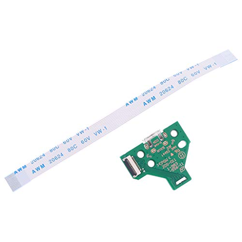 USB Charging Port Socket Board JDS-011 for PS4 Controller with 12 Pin Cable - Reinly