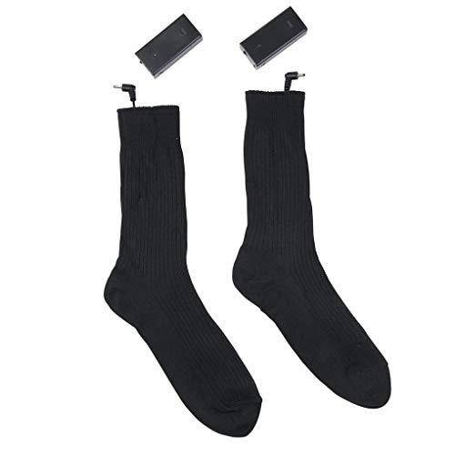 Windy5 1 Paar Männer Frauen Cotton Beheizbare Socken Batterie-Kasten Kit Winter-elektrische Fußwärmer Crew Socken