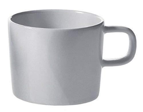 Alessi Ajm28/76 Platebowlcup Tasse à Moka en Porcelaine Blanche, Set de 4 Pièces
