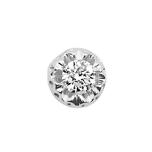 MILLE AMORI ∞ Mono pendiente de oro y diamantes para mujer ∞ oro blanco de 9 kt 375 diamantes 0,18 Kt ∞ colección Diadema + luz + volumen