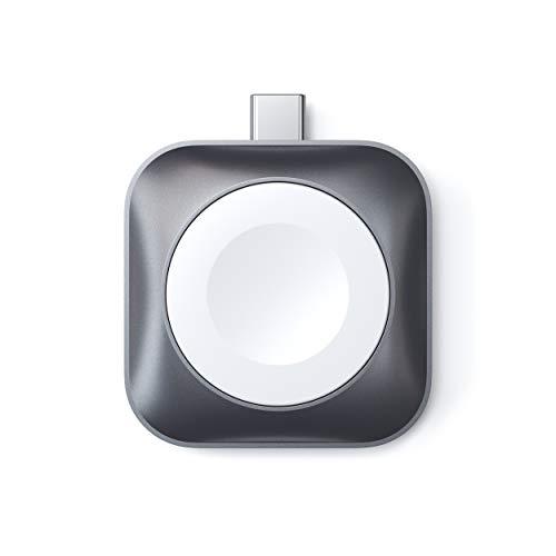 Satechi Caricatore Portatile (Certificato MFi) con Dock di Ricarica Magnetico USB-C per Orologio – Compatibile con Apple Watch Series 6/5/4/3/2/1 (Cavo non incluso)