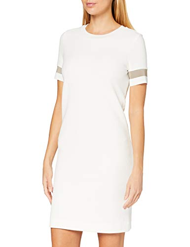 BOSS Womens Dastriped Casual Dress, Open White (118), L