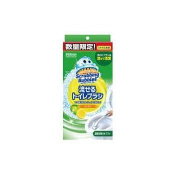 スクラビングバブル トイレ洗剤 流せるトイレブラシ シトラス 数量限定 本体ハンドル1本+付替用4個