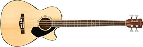 Fender CB-60SCE - Bajo eléctrico acústico para principiantes, color natural