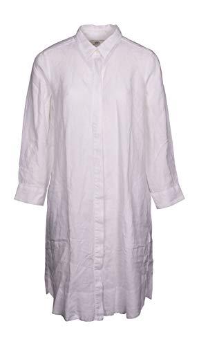0039 Italy Damen Kleid Gracia New aus Leinen weiß - L