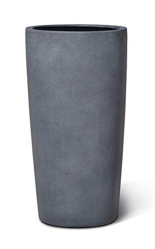 VAPLANTO® Pflanzkübel High Conus 70 Blei Grau Rund * 36 x 36 x 68 cm * Manufaktur Qualität * 10 Jahre Garantie