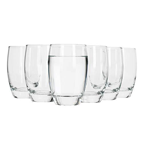 Bormioli Rocco 6tlg. Set Wasserglas Essenza 470ml große Trink-Becher Saft-Gläser klar Universal-Glas sehr stabil Gastro-Qualität hoher Glanzfaktor