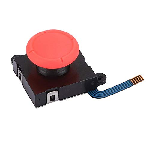 eboxer-1 3D Analog Joystick for Switch Game Console, Replacement Left and Right Analog 3D Joystick Rocker with Cap for NS Switch (Red Hat II)