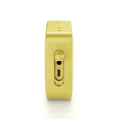 JBL GO 2 Speaker Bluetooth Portatile, Cassa Altoparlante Waterproof IPX7 con Microfono, Funzione di Noise Cancelling, fino a 5 h di Autonomia, Giallo