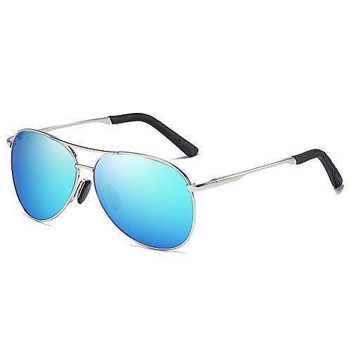 XUSHEN-HU Gafas de Sol Gafas de Sol polarizadas de conducción de Pesca Que abarca Marco Redondo clásico de la Vendimia Gafas de Sol Deportivas Gafas de Moda (Color: Oro, Tamaño: Libre) Gafas de Sol