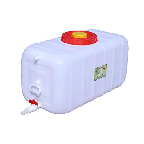 Cubo De Almacenamiento De Agua Para El Hogar 150L Bidón Plástico Con Grifo Depósito De Agua Contenedor De Agua Gran Capacidad Cubo De Plástico Cuadrado Almacenamiento De Agua Tanque De Agua Con Tapa P