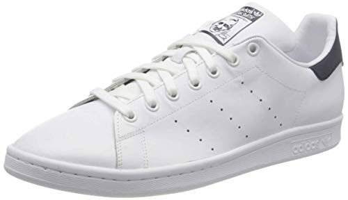 Adidas Originals Stan Smith, Baskets mode mixte adulte,Blanc (STAN SMITH RUNWHI/RUNWHI/NEWNAV) 42 2/3 EU