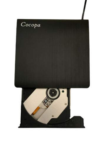 External DVD CD Burner, Antika External CD Drive USB 3.0 DVD +/- RW CD +/- RW Device Portable Card Reader Ultra Slim External Disc Compatible with Mac/OS/XP/Vista/Linux/Win7/Win8