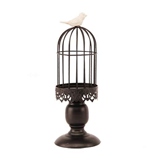 Ghh11 Vintage vogel kooi kandelaar decoratie Scandinavische smeedijzeren vogel kooi kandelaar decoratie Amerikaanse pastorale restaurant slaapkamer decoratie creatieve kleine ornamenten