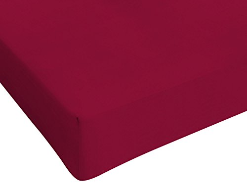 Italian Bed Linen, Max Color, Lenzuolo sotto, Bordeaux, 1 Posto