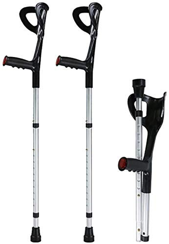 ANZRY Forearm Crutches with Open Cuff Adjustable Ergonomic Comfortable Wrist Handle Heavy Duty for Standard and Tall Adults,2 Units