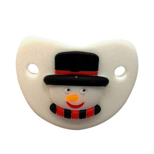 LIOOBO chupete chupete chupetes de silicona recién nacidos chupete de navidad para bebés niños de 0-3 años (muñeco de nieve)