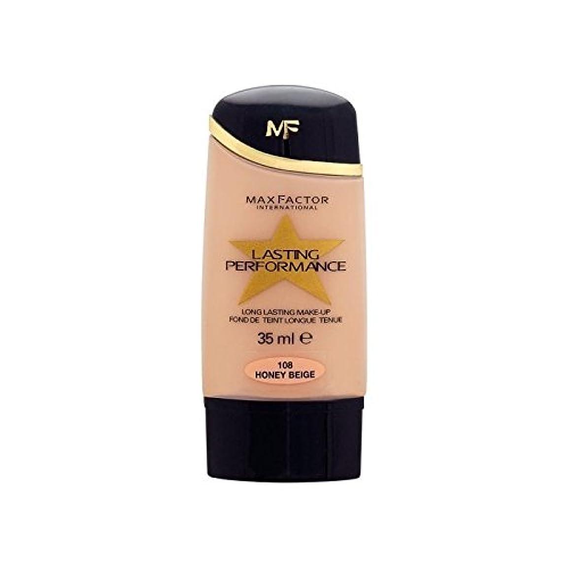 カーテン生き残りクランプマックスファクター持続パフォーマンスの基礎ハニーベージュ108 x4 - Max Factor Lasting Performance Foundation Honey Beige 108 (Pack of 4) [並行輸入品]