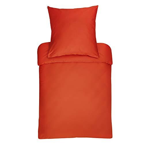 Bassetti - Biancheria da letto, 100% cotone, colore arancione, copripiumino singolo 200 x 200 cm