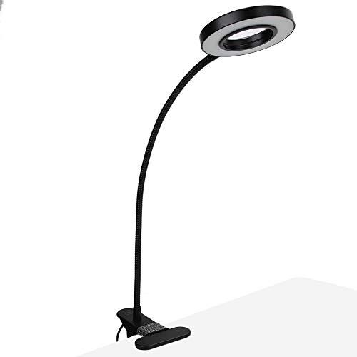Luz de anillo de mesa, luz de trabajo LED de extensión ajustable, luz de clip de luz de extensión flexible de 360 grados para pestañas de uñas