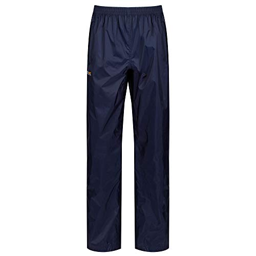 Regatta Pack It - Sobrepantalón impermeable para mujer, azul midnight, Talla Medium (38-40 EU)