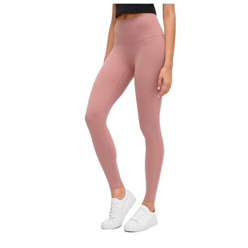 QTJY Leggings Deportivos Desnudos Suaves para Mujer, Pantalones de Yoga para Levantar la Cadera y Cintura Alta, Pantalones de Entrenamiento para Celulitis, Push-ups, E S