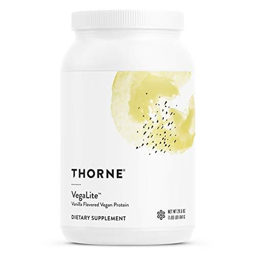 Thorne Research - VegaLite - Vegan Friendly Performance Protein Powder - Vanilla Flavor - 29.6 oz.