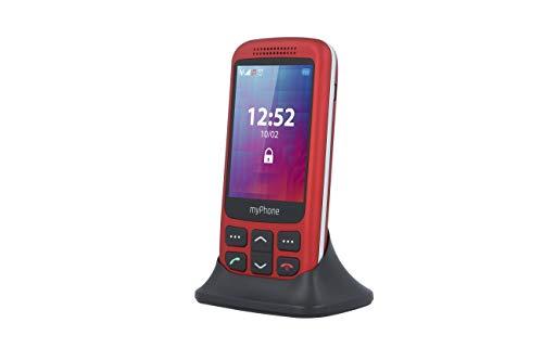 MYPHONE HALO S Rojo Móvil Senior 2.8'' Cámara VGA Bluetooth MICROSD Botón Sos Base DE Carga