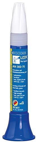 Weicon 30270020 WEICONLOCK AN 302-70 Schrauben-und Stehbolzensicherung 20ml hochfester Gewinde Kleber, grün