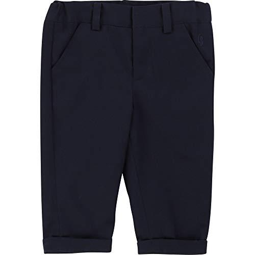 CARREMENT BEAU Pantalon de Costume en Twill Bebe Couche Bleu Cargo 18MOIS