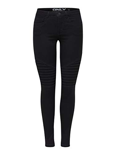 ONLY Damen Skinny Fit Jeans ONLRoyal Regular Biker S30Black