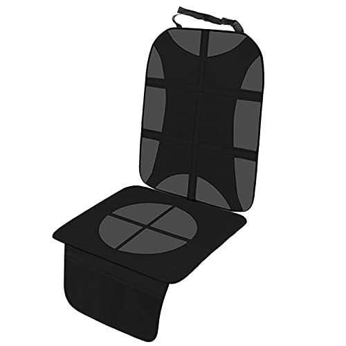 Rosei Protector impermeable para asiento de coche, color negro, incluye asiento antideslizante para todos los asientos de coche, incluye Isofix, fácil de limpiar y seguro (D)