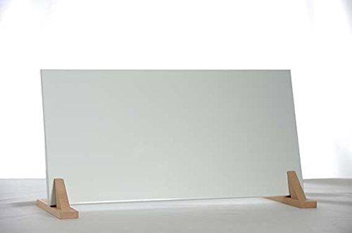 Infrarood platte verwarming 200 W in RAL-tinten zonder extra kosten incl. Wandhouder en houten poten naturel 7°