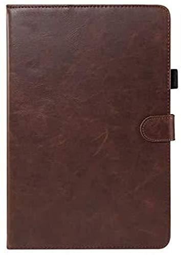 GYY Accesorios De Pestañas para Huawei MediApad M5 Lite 10 10.1, Funda De Cuero Premium Caja Inteligente para Huawei MediApad M5 Lite 10.1 BAH2-L09 / W09 / W19 (Color : Dark Brown)