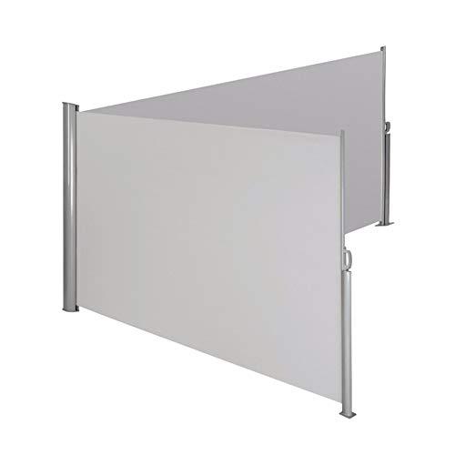 """FMXYMC 236\""""X 71\"""" versenkbare Seitenmarkise, doppelt versenkbarer Terrassenschirm wasserdicht, Sichtwand-Wandteiler, versenkbarer Sichtschutz-Sonnenschutz, für Garten, Außen, Patio,Light Gray"""